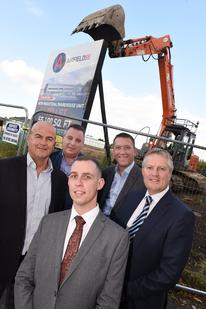 Speculative industrial development Airfield 55 at Aldridge starts on site