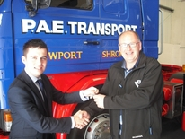 Haulier Arrives in Stafford Park